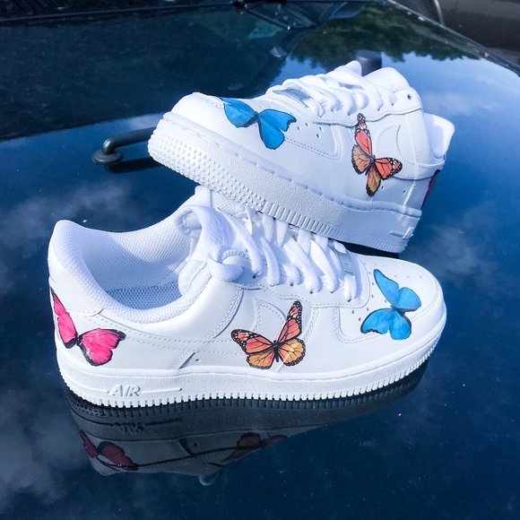 RAINBOW BUTTERFLY Air Force 1s Boutique